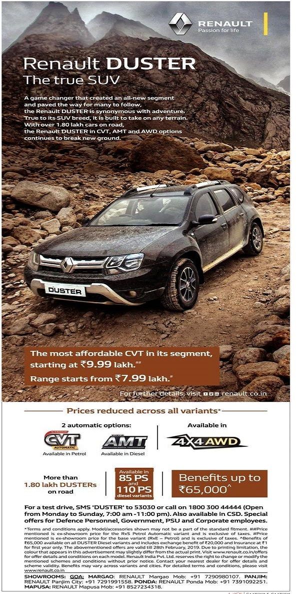 RENAULT DUSTER - The true SUV