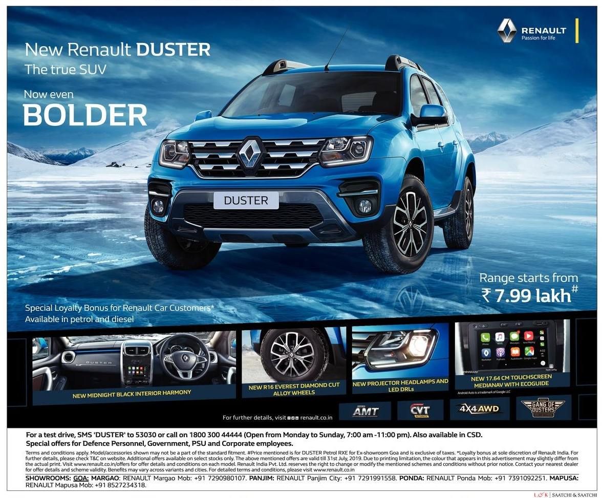 New Renault Duster...... Now even BOLDER